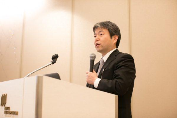 代表の原田より前年度の実績発表