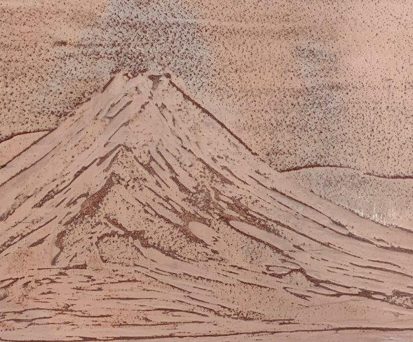 石灰クリーム磨き仕上げで制作した赤富士
