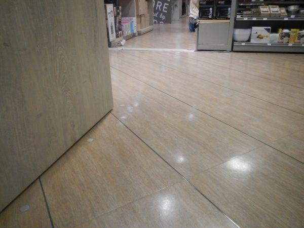 床コンクリート調仕上げ Pタイル・床シートを剥がさず! その上に ...