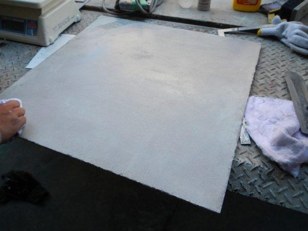 特殊床薄塗モルタル仕上げの仕上がり目標サンプル