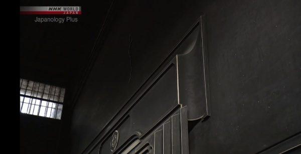 面白の漆喰仕上げの秋田の内蔵