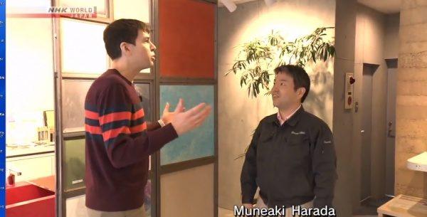 マットアルトさんと原田左官社長の原田