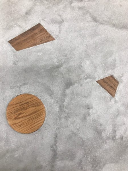 モラート+木片のサンプル