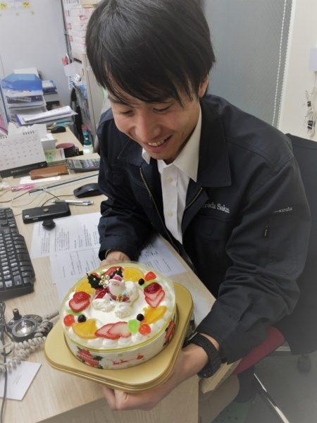 クリスマスケーキと武田さん