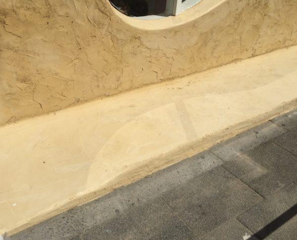 秋葉原マザーハウスe.。原田左官カラーモルタル外壁施工。店舗外壁・床箇所