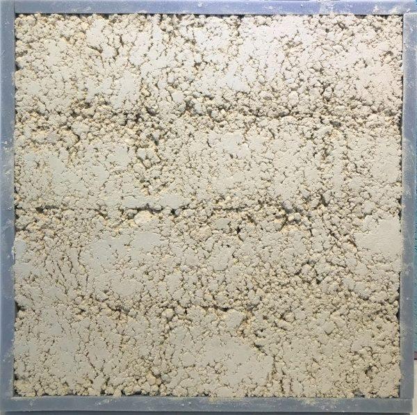 琉球石灰岩の塗り版築サンプル板