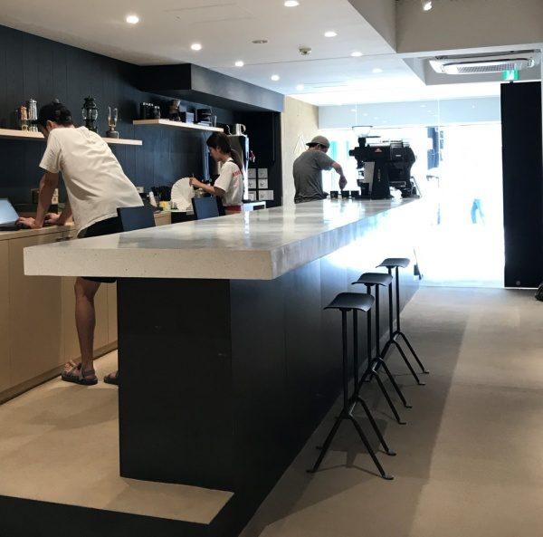 ビールストーンのカフェカウンター