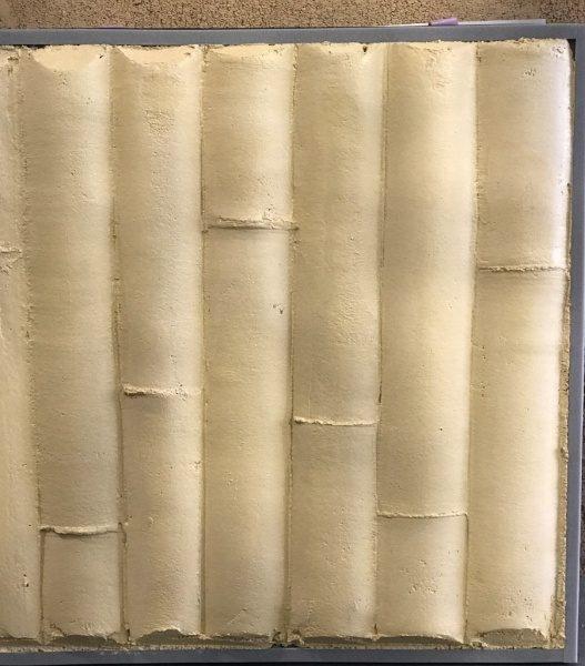 竹模様モルタルサンプル。外竹タイプ