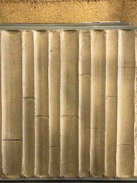 竹模様モルタルサンプル。内竹タイプ