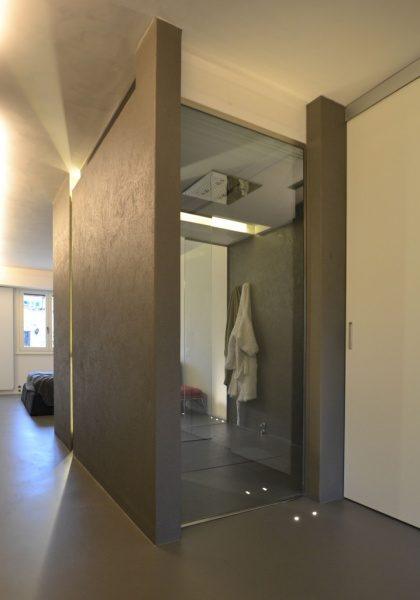 オルトレマテリアで仕上げた浴室。原田左官海外の施工例