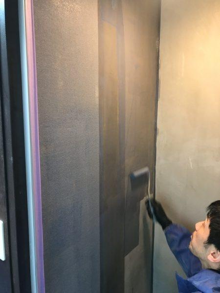 シャワー室のリボール防水。プライマー塗りと専用クロス張り込み原田左官施工