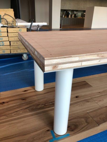 洗い出しシート木工下地のテーブル天板