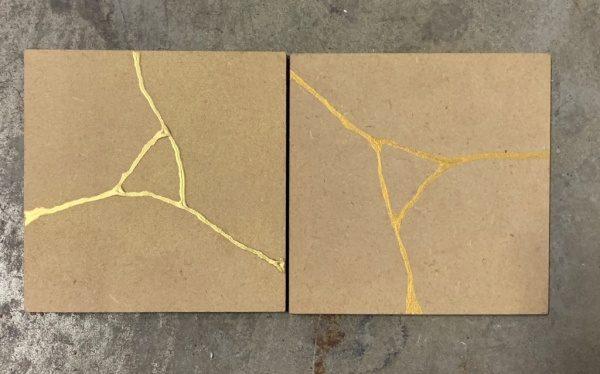 金継ぎ風サンプル2種類