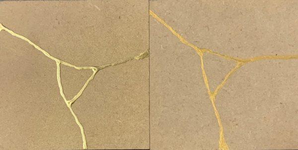 2種類の金継ぎ風サンプル