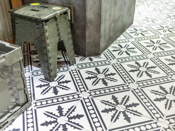 床タイルの施工例TNコーポレーション