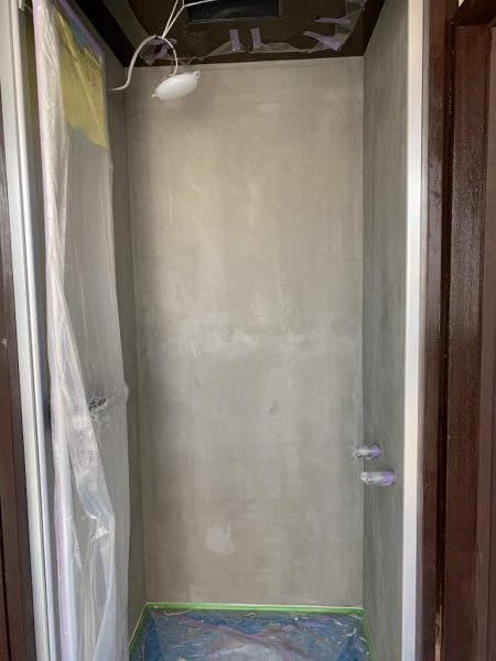 シャワー室リボール防水下地処理