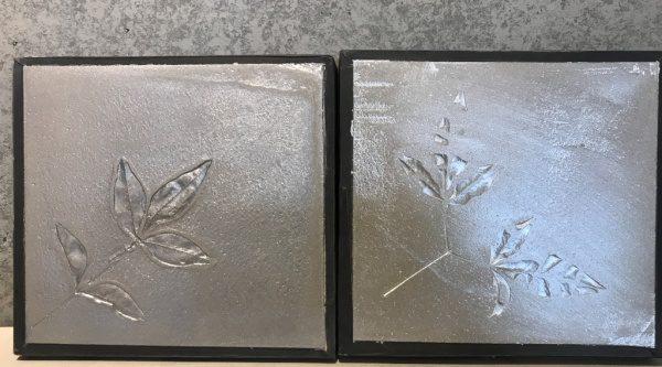 モルタル+アルミニウム塗料のサンプル見本板
