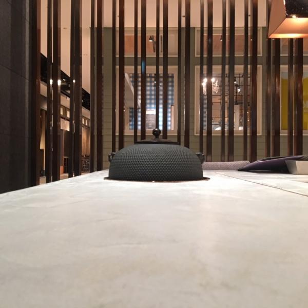 モールテックス - テーブルに施工 日本茶のお店