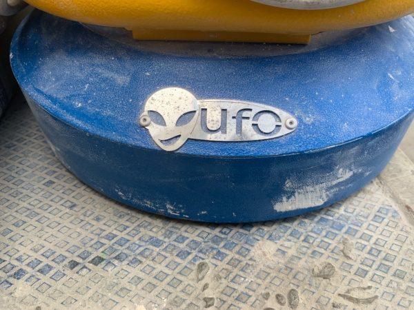 研磨機UFO。UFOロゴ部分