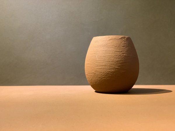 京錆土の「風土~FUUDO~」で施工したガラス瓶