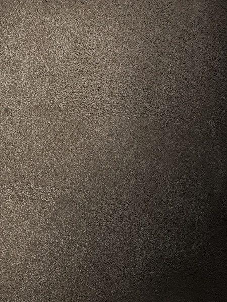 原田左官の特殊モルタル仕上げ、色は墨入りの濃いグレー
