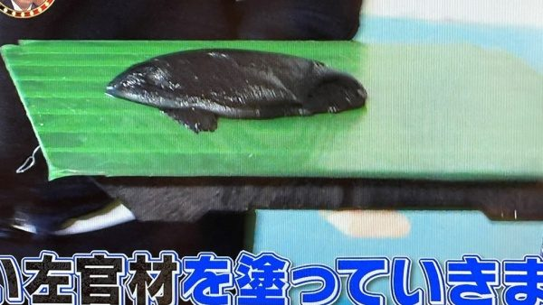 黒のオルトレマテリアフィーネが鏝板に乗っている