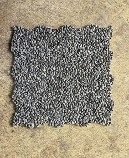 洗い出しシート黒2分石、1枚。冠昀有限公司(GUAN YUN)社製
