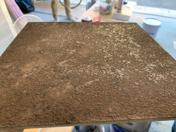 シャインスタッコ、石の肌のような仕上げサンプル。原田左官施工