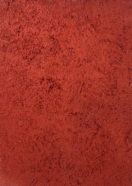 原田左官オリジナル塗り壁材「染sen」の赤色サンプル。型番:SP5426