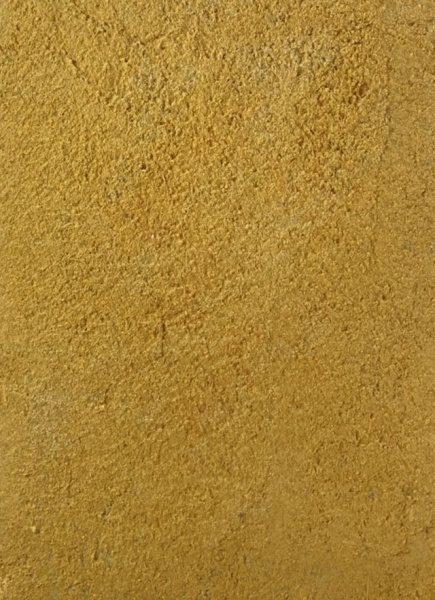 原田左官オリジナル塗り壁材「染sen」の黄土色サンプル。型番:SP5428