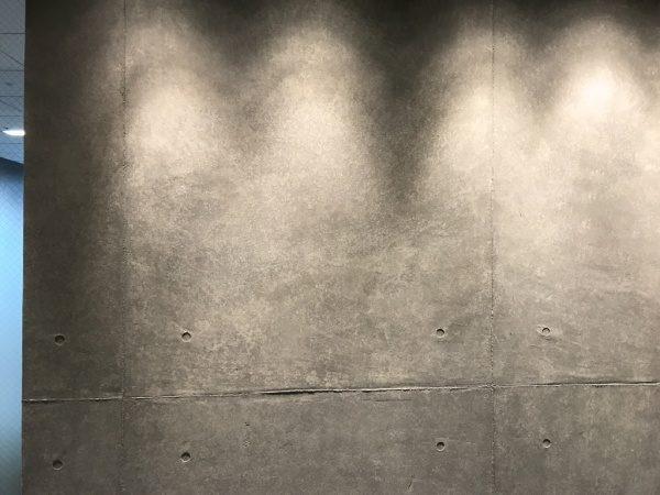 リペア補修施工後のコンクリート打ち放し風仕上げ。原田左官施工